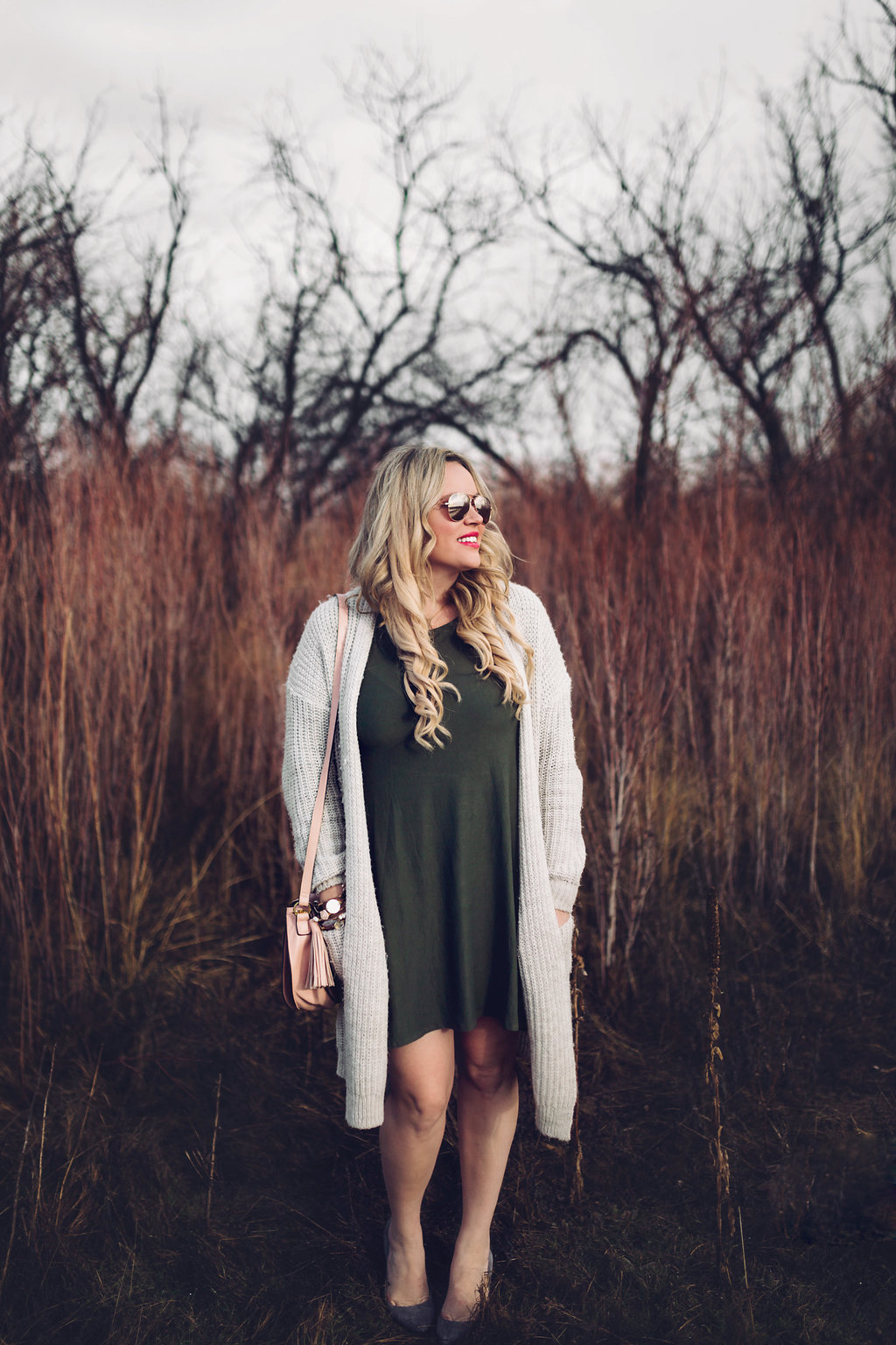 Olive Dress + Slouchy Sweater xx Ross Dress For Less graphic