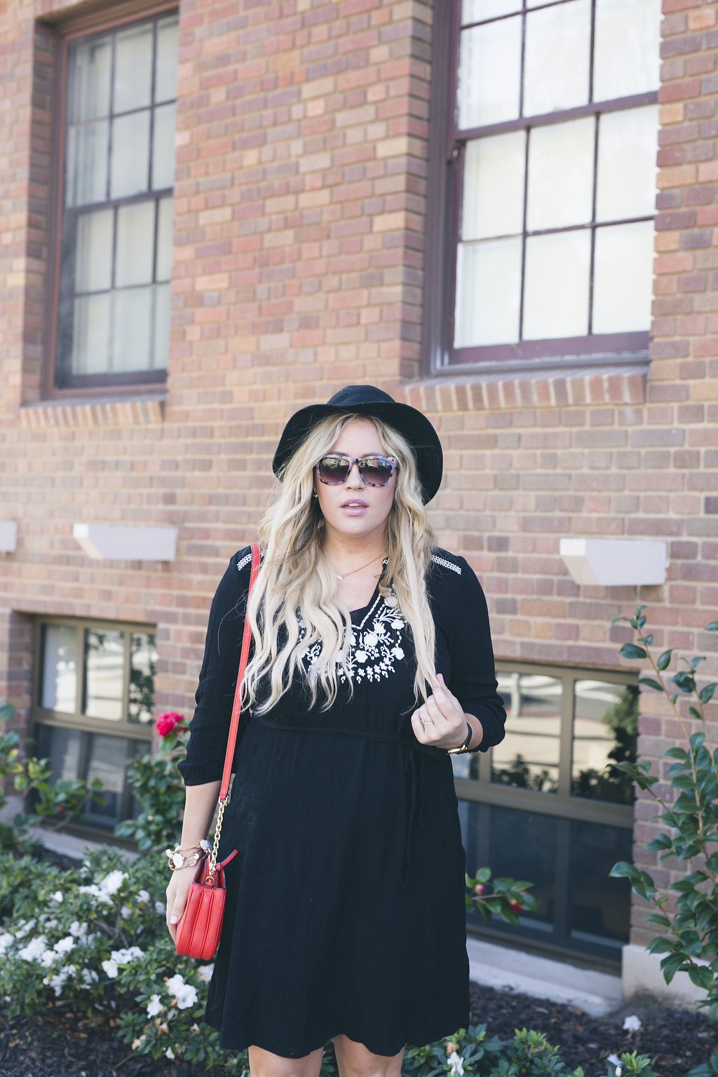 Black Embroidered Dress xx Old Navy graphic