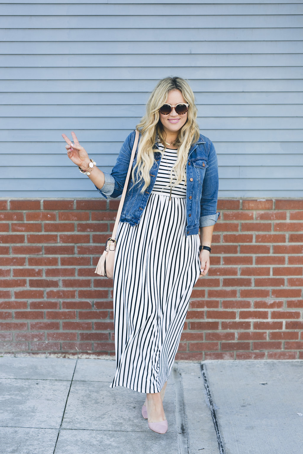 Striped Maxi xx Eighth and Main graphic