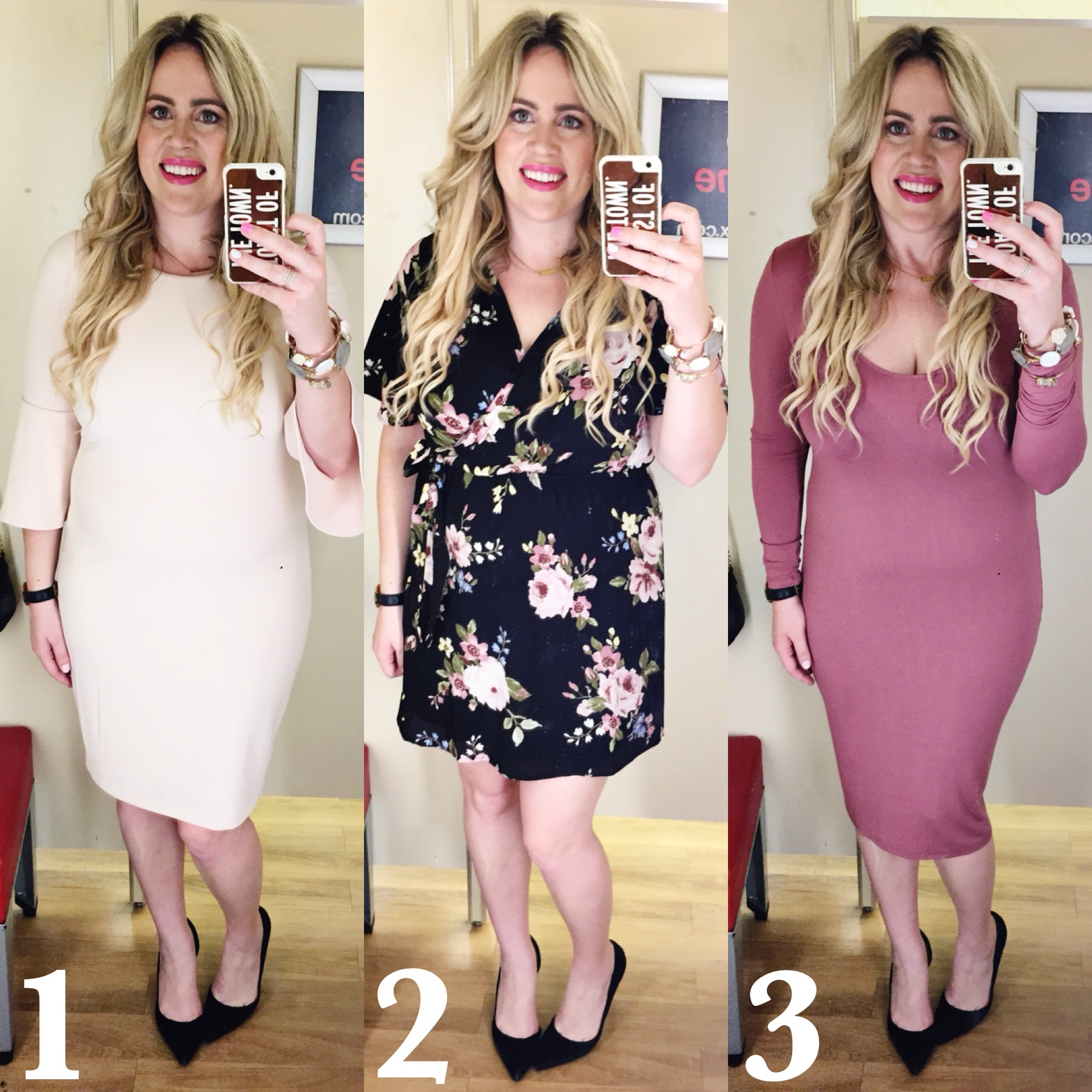Dressing Room Dilemma xx TJ Maxx Spring Pink Dresses graphic
