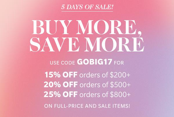 GO BIG 2017 ShopBop Sale graphic