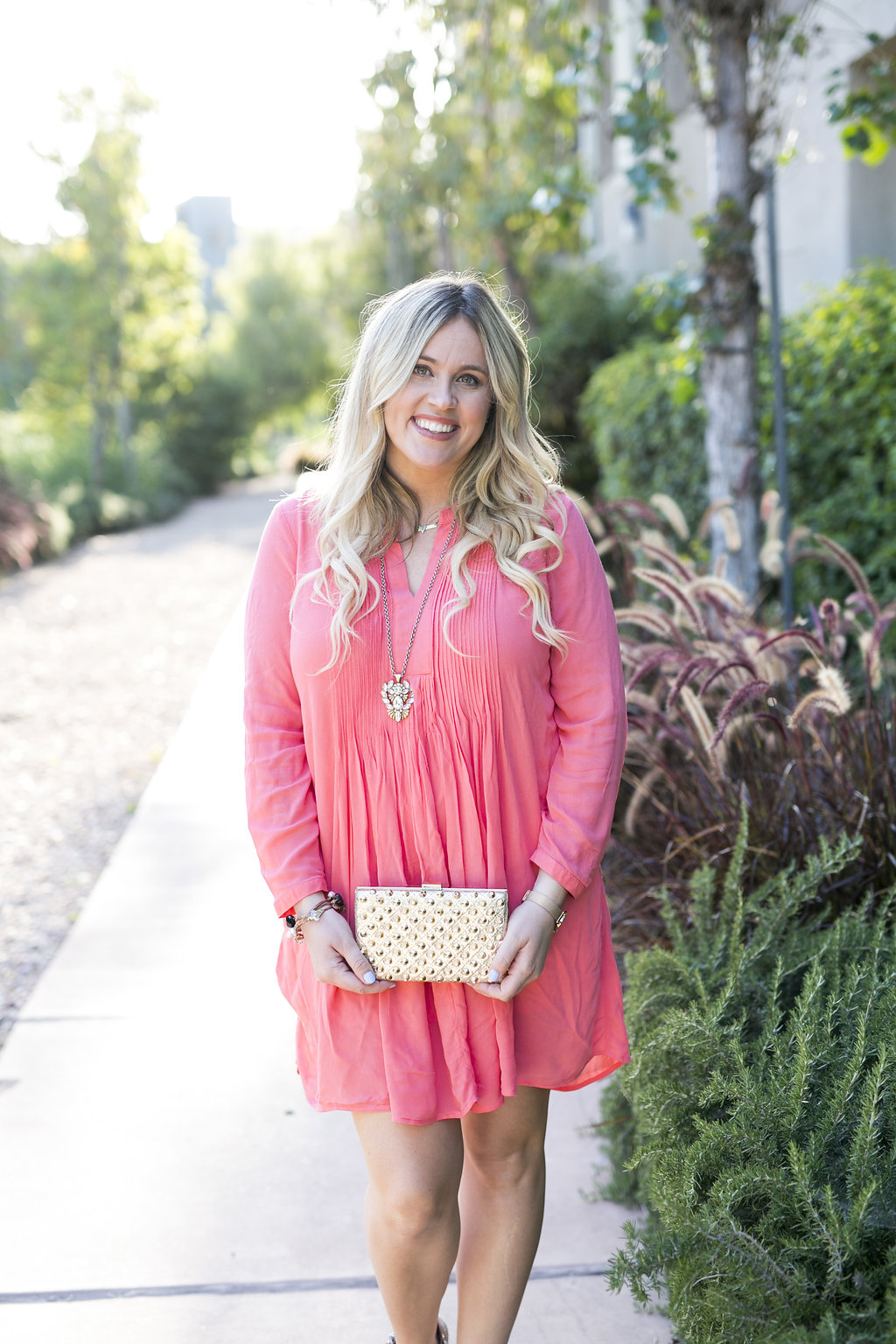The perfect coral dress graphic