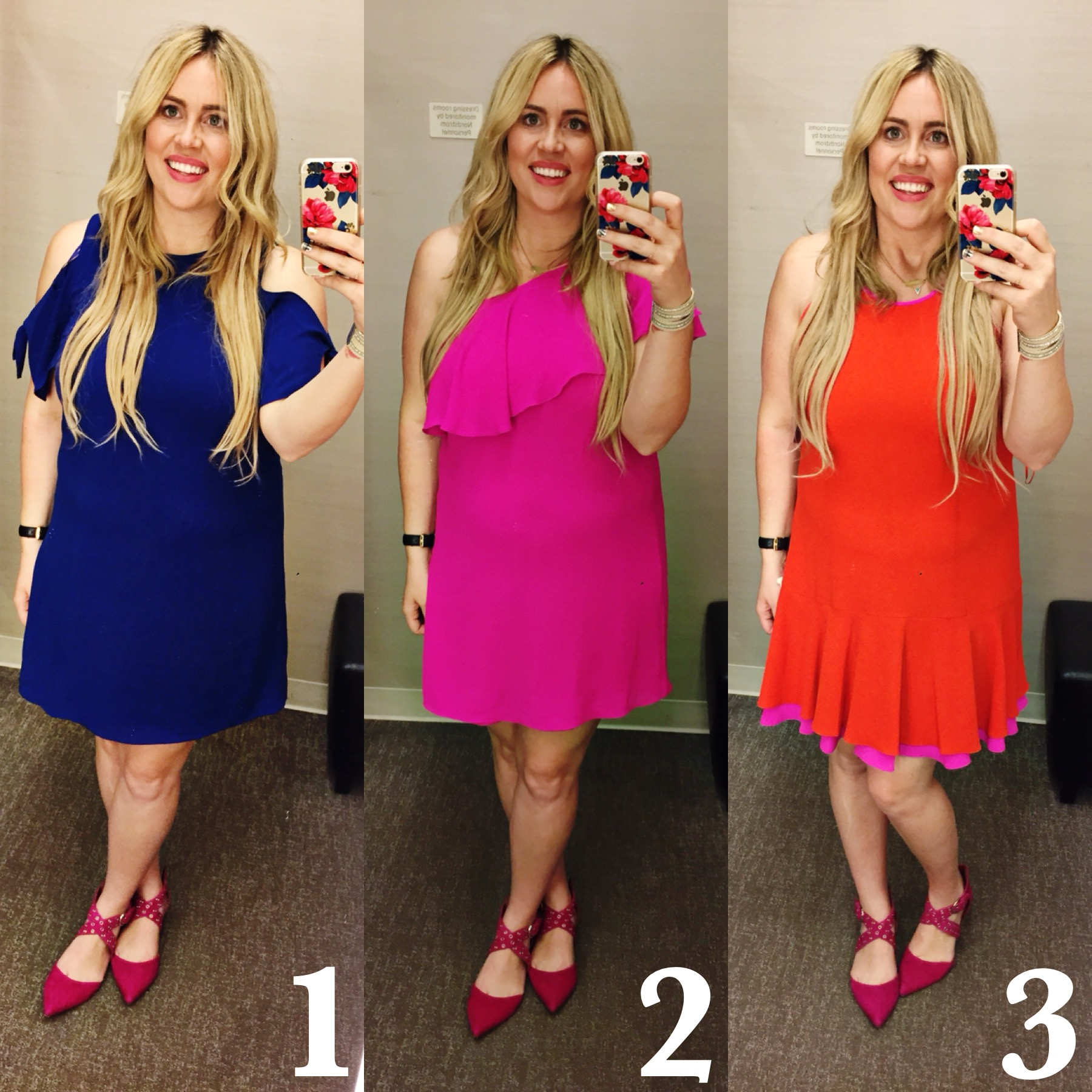 Dressing Room Dilemma xx Bold Spring Dresses graphic