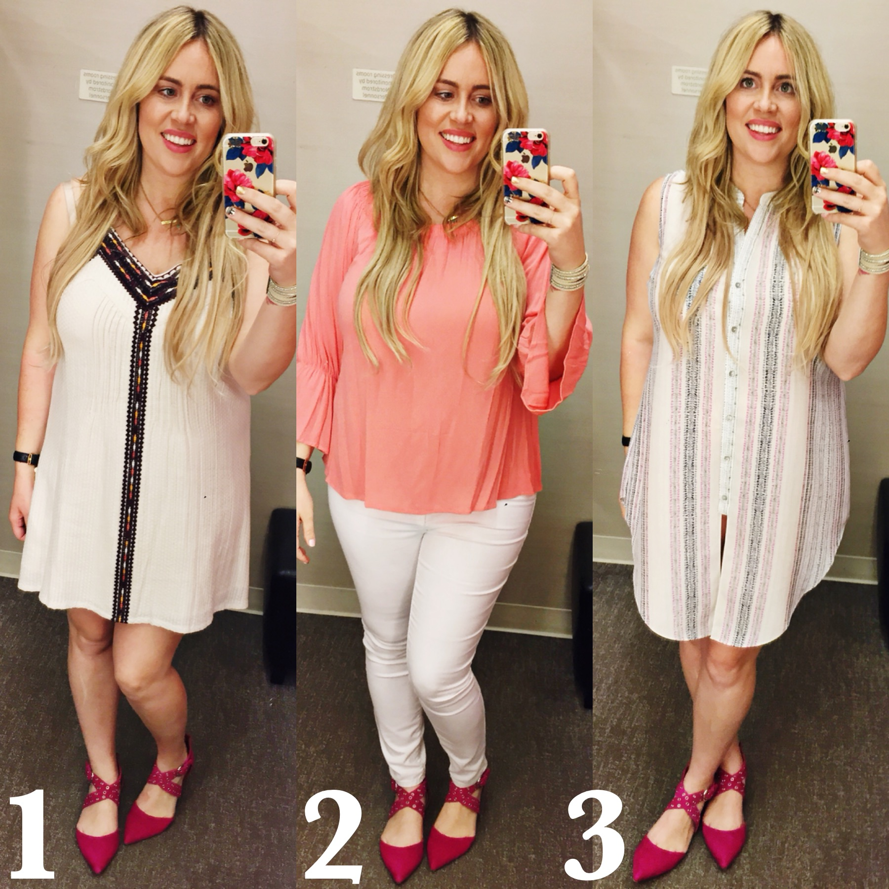 Dressing Room Dilemma: White and Bright graphic