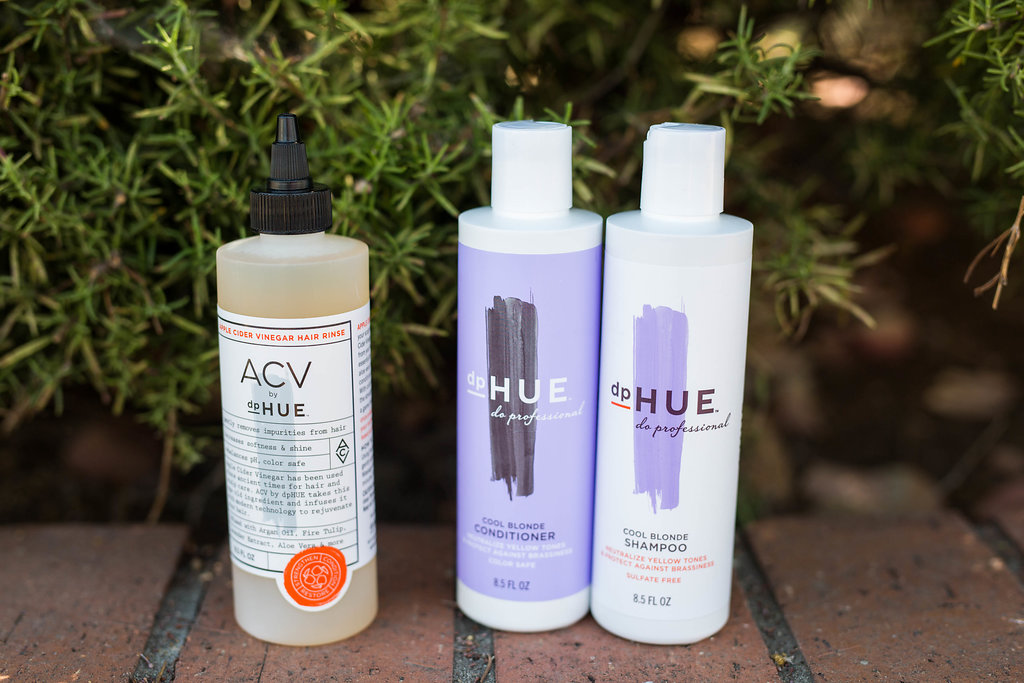 dp HUE Shampoo, Conditioner and Apple Cider Vinegar Rinse graphic