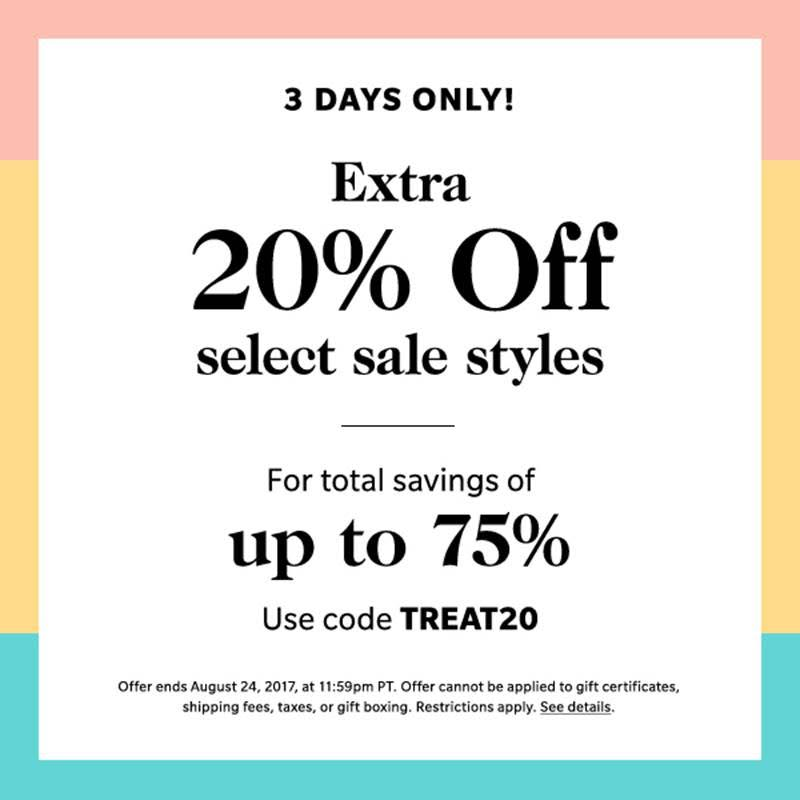 ShopBop Extra Sale on Sale graphic